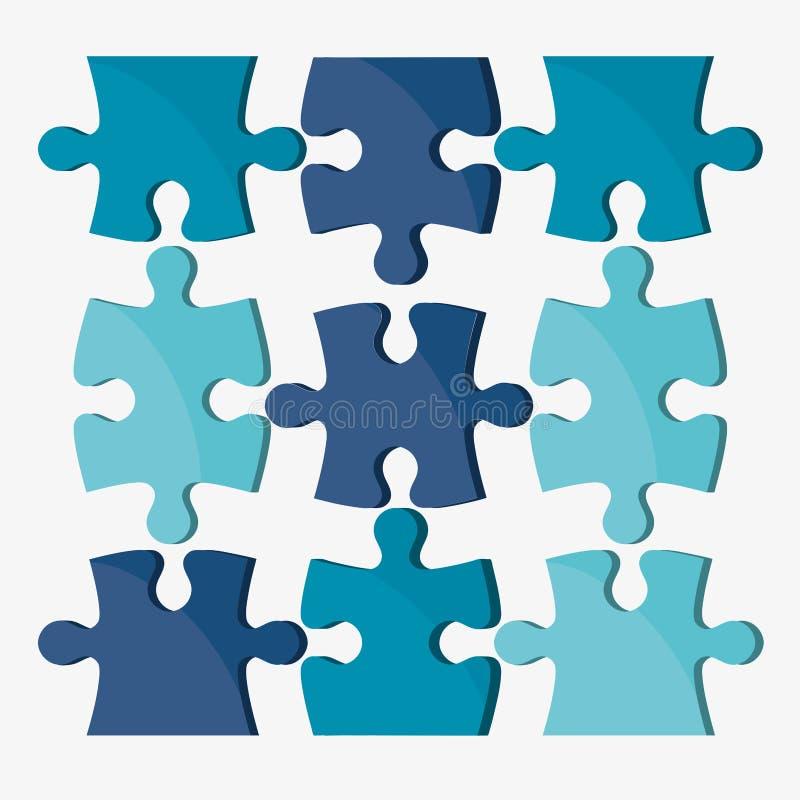 Einfache 7x7 abgeschlossene Puzzlespielabbildung lizenzfreie abbildung