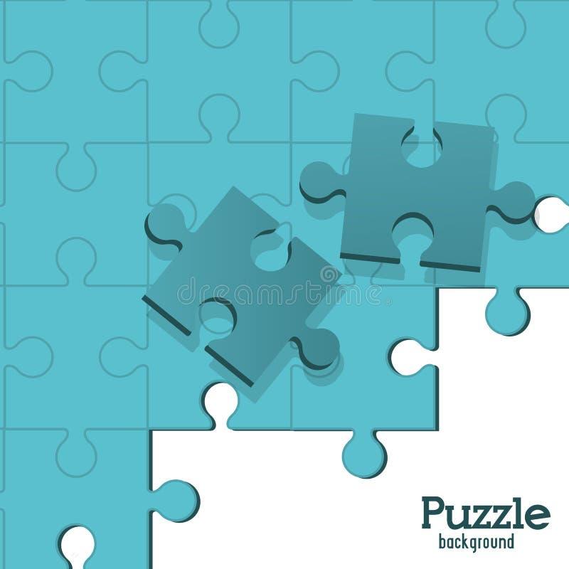 Einfache 7x7 abgeschlossene Puzzlespielabbildung vektor abbildung
