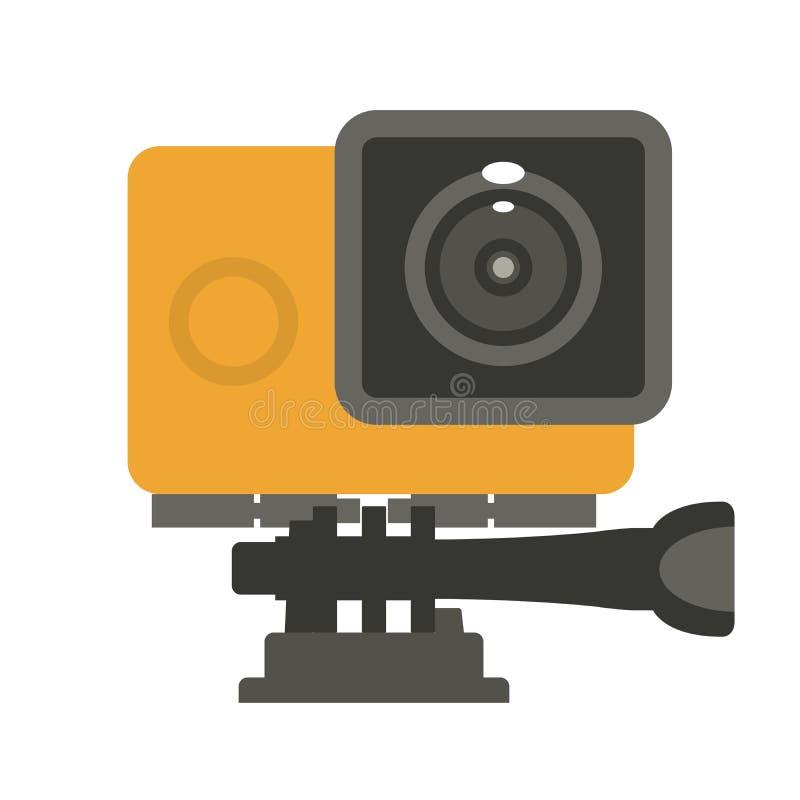Einfache Aktionskameraikone - Videonocken lizenzfreie abbildung