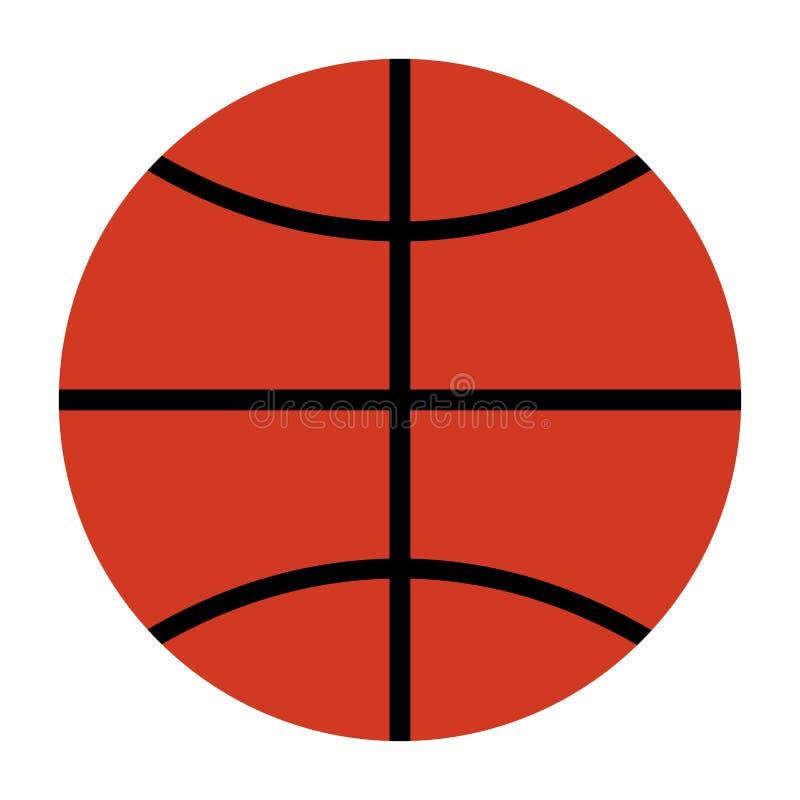Einfache Ansicht des Basketballballs von der Spitze stock abbildung