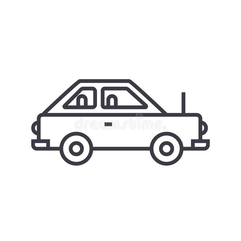 Einfache Autovektorlinie Ikone, Zeichen, Illustration auf Hintergrund, editable Anschläge vektor abbildung