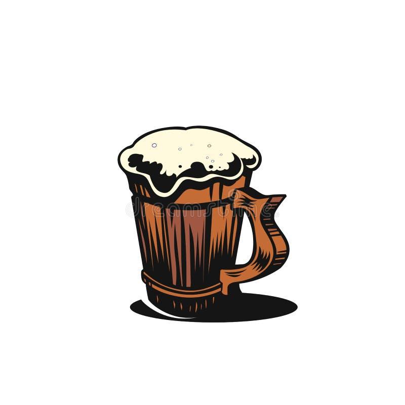 Einfache Bierkrugvektorillustration stock abbildung