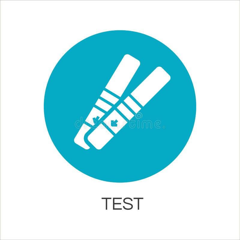 Einfache blaue flache Ikone Rregnancy-Tests lizenzfreie abbildung