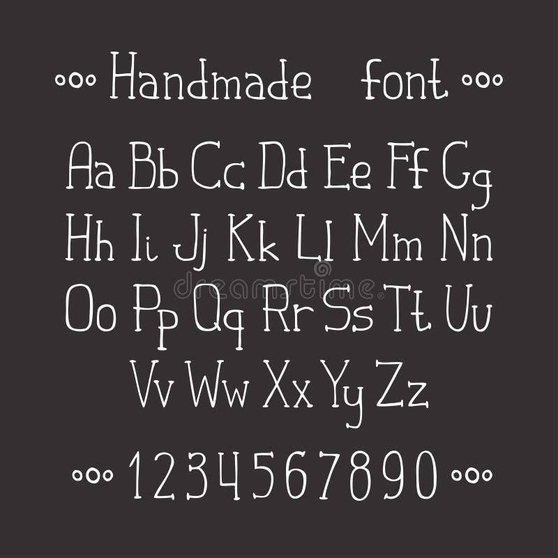 Einfache einfarbige Hand gezeichneter Guss Schließen Sie ABC ab lizenzfreie abbildung
