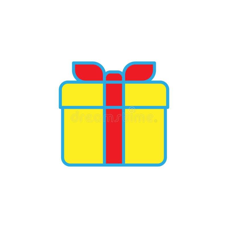 Einfache feste Ikone der Geschenkbox lizenzfreie abbildung