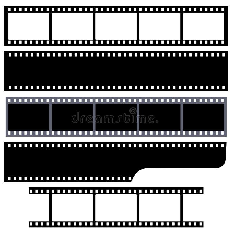 Einfache Filmstreifen eingestellt vektor abbildung