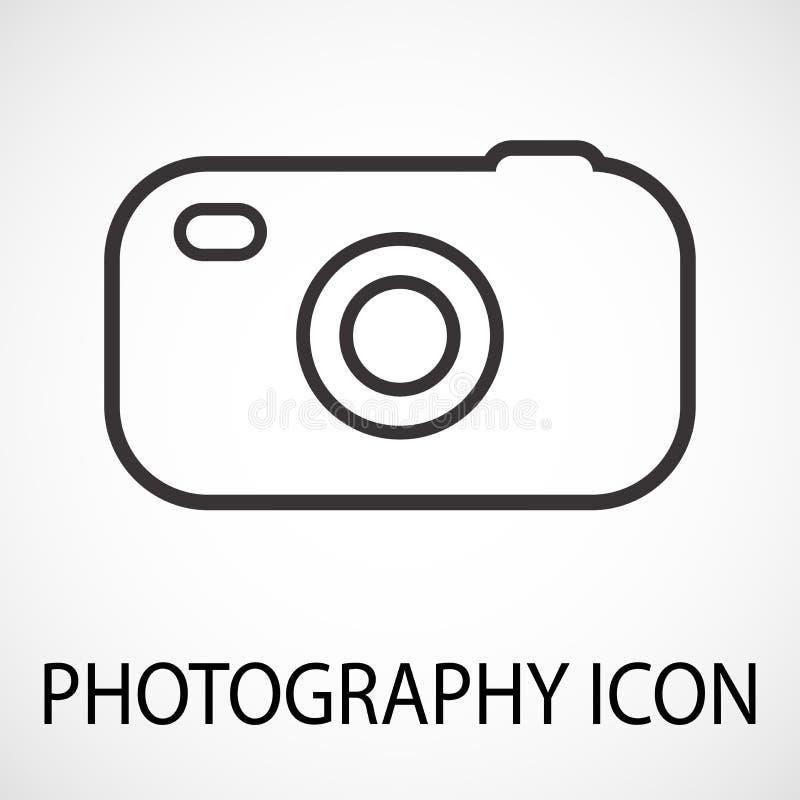 Einfache Fotokameraikone, Vektor stock abbildung