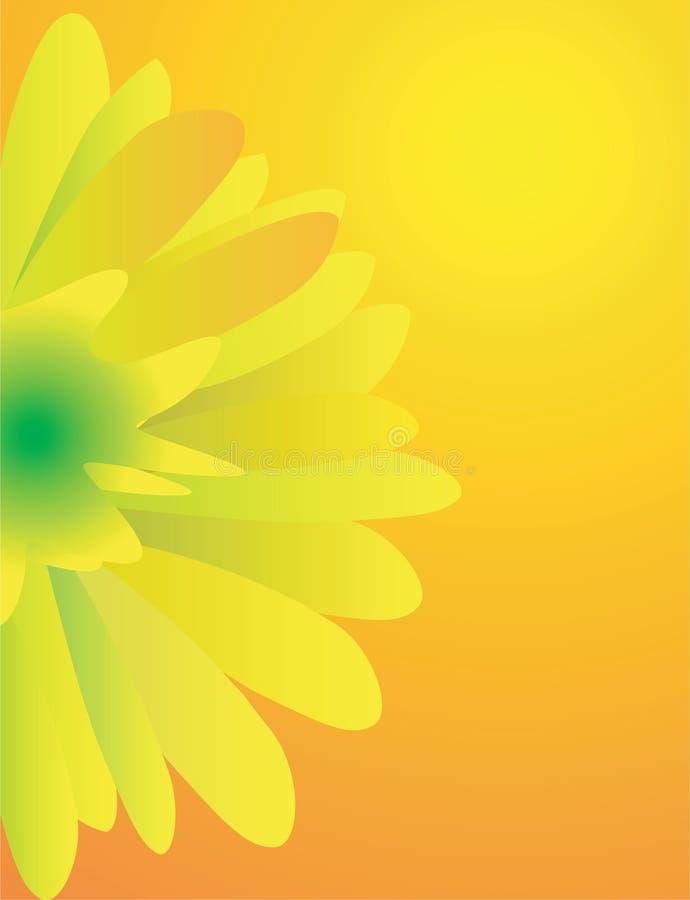 Einfache gelbe Sonnenblume lizenzfreie abbildung