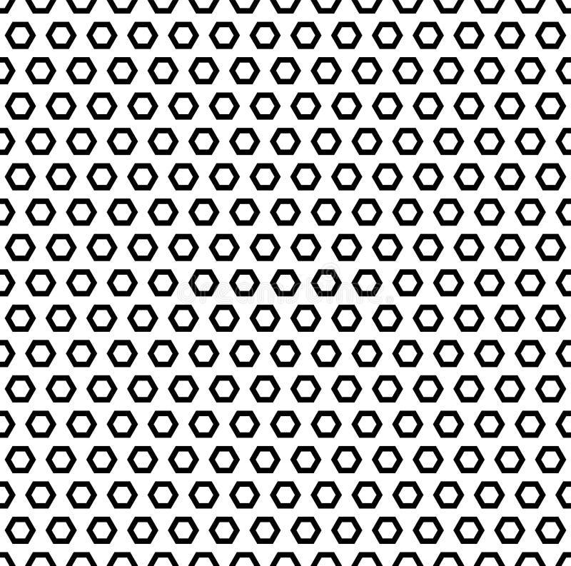Einfache geometrische Beschaffenheit, schwarze sechseckige Formen lizenzfreie abbildung