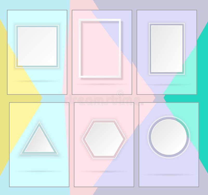 Einfache geometrische Formen lizenzfreie abbildung