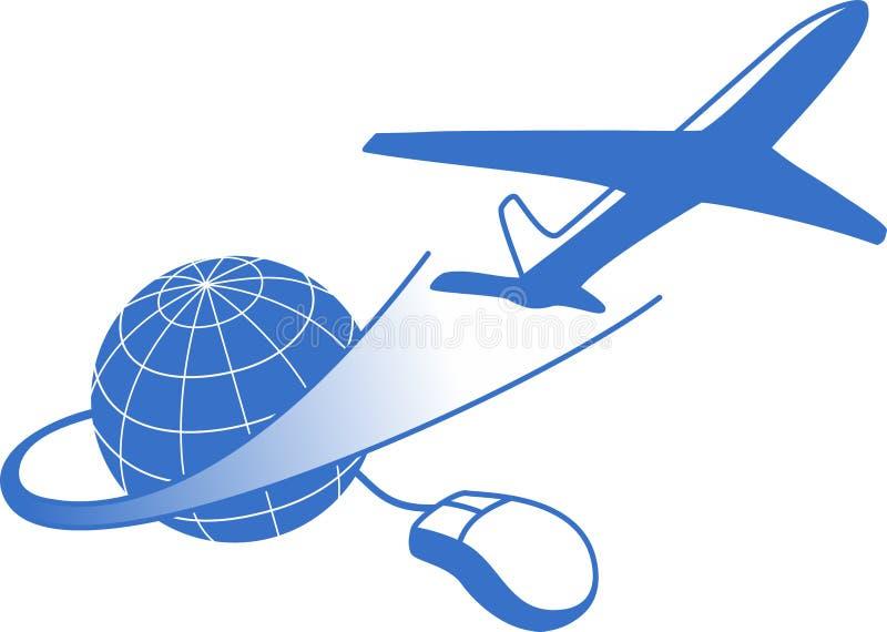 Einfache globale Reise stock abbildung