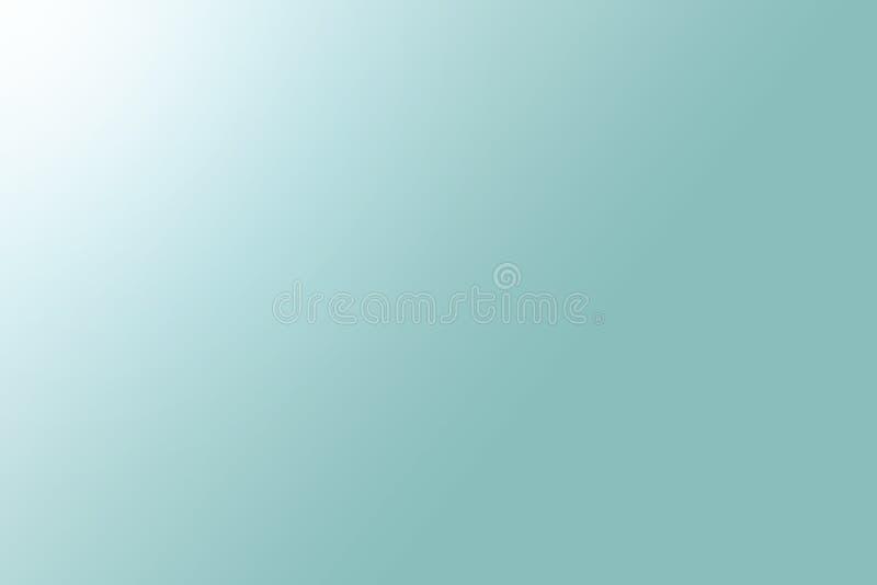 Einfache grün-blaue weiße Steigungen beleuchten auf dem linken Hintergrund, einfach machen Schönheit hübsche Kopienräume als zeit lizenzfreie stockfotografie