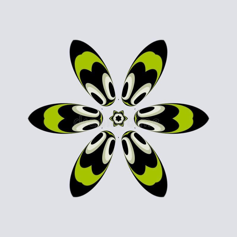 Einfache grüne Blume mit Augen lizenzfreie abbildung