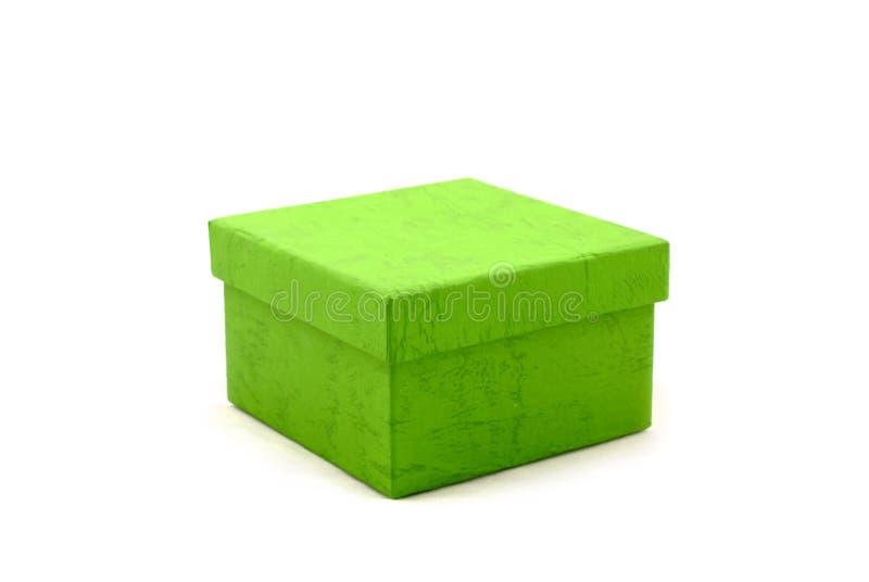 Einfache grüne Geschenkbox lizenzfreie stockfotos