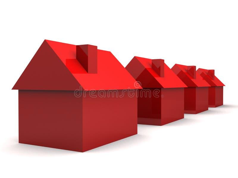 Einfache Häuser 3d lizenzfreie abbildung