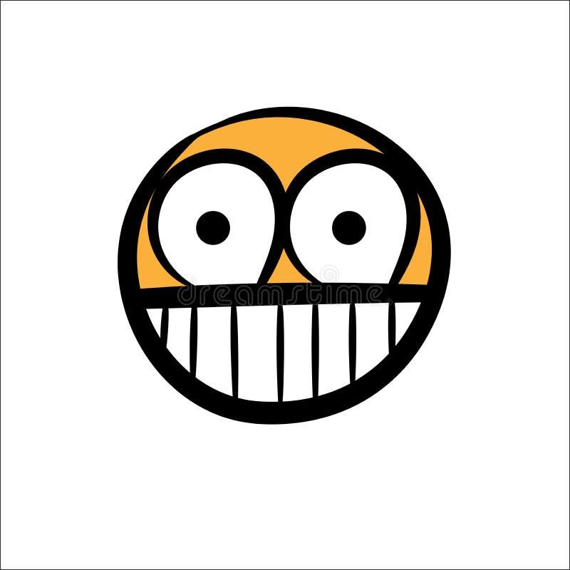 Einfache Hand des Lächelngesichtes gezeichnet lizenzfreie abbildung