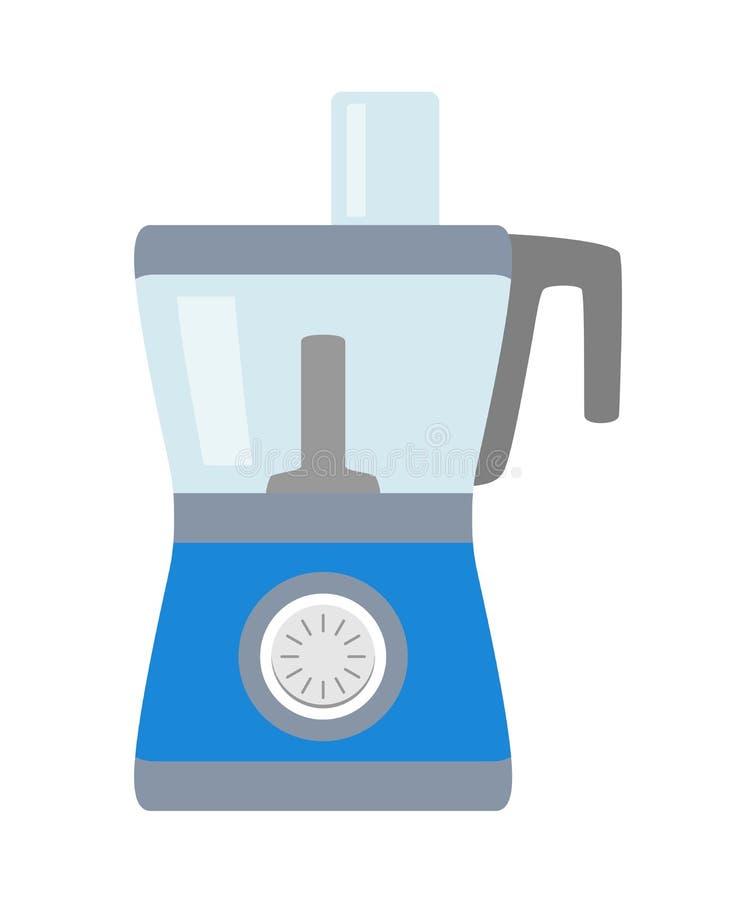Einfache Ikone der Küchenmaschine lokalisiert Haushaltsgerät Moderne Küchenmaschine, Zerhacker, Schleifer Flache Art lizenzfreie abbildung