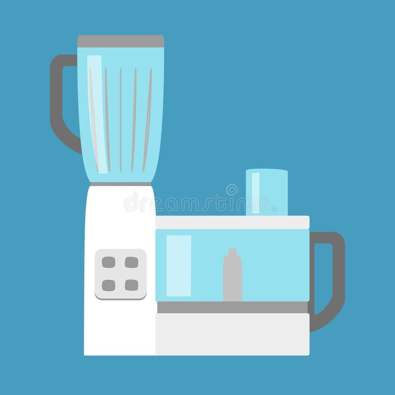 Einfache Ikone der Küchenmaschine lokalisiert Haushaltsgerät Moderne Küchenmaschine, Zerhacker, Schleifer Flache Art vektor abbildung