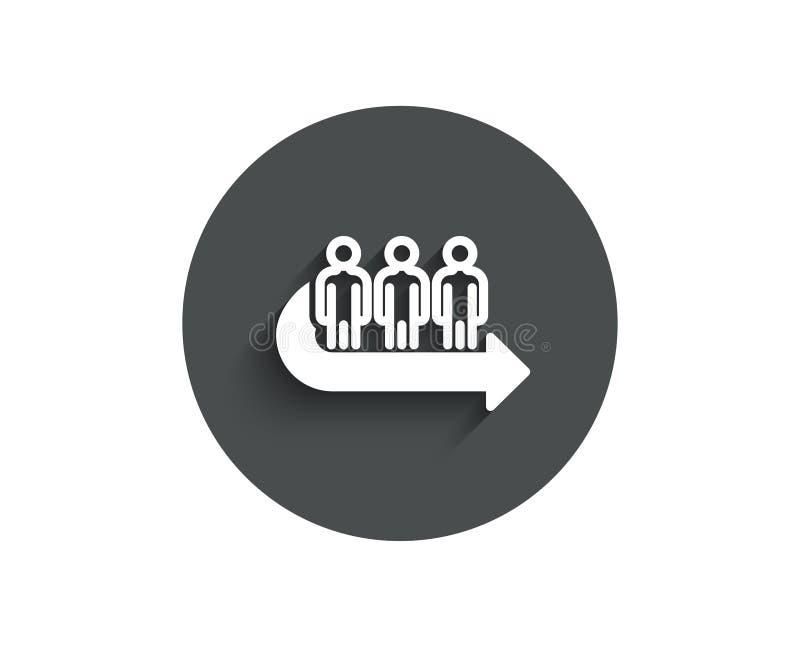 Einfache Ikone der Reihe Leutewartezeichen lizenzfreie abbildung