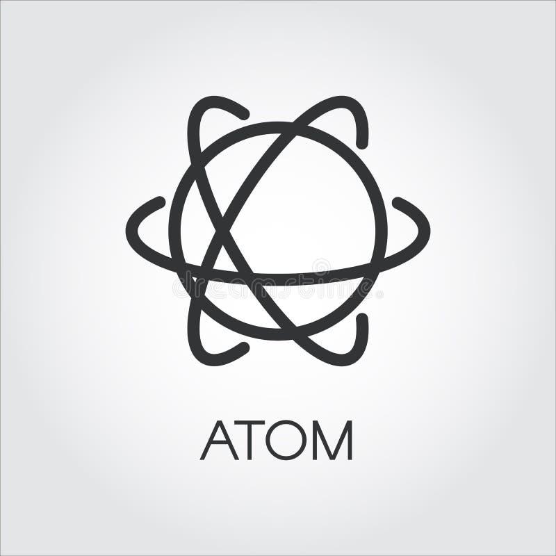 Einfache Ikone des Atoms Chemie, Wissenschaftskonzept vektor abbildung
