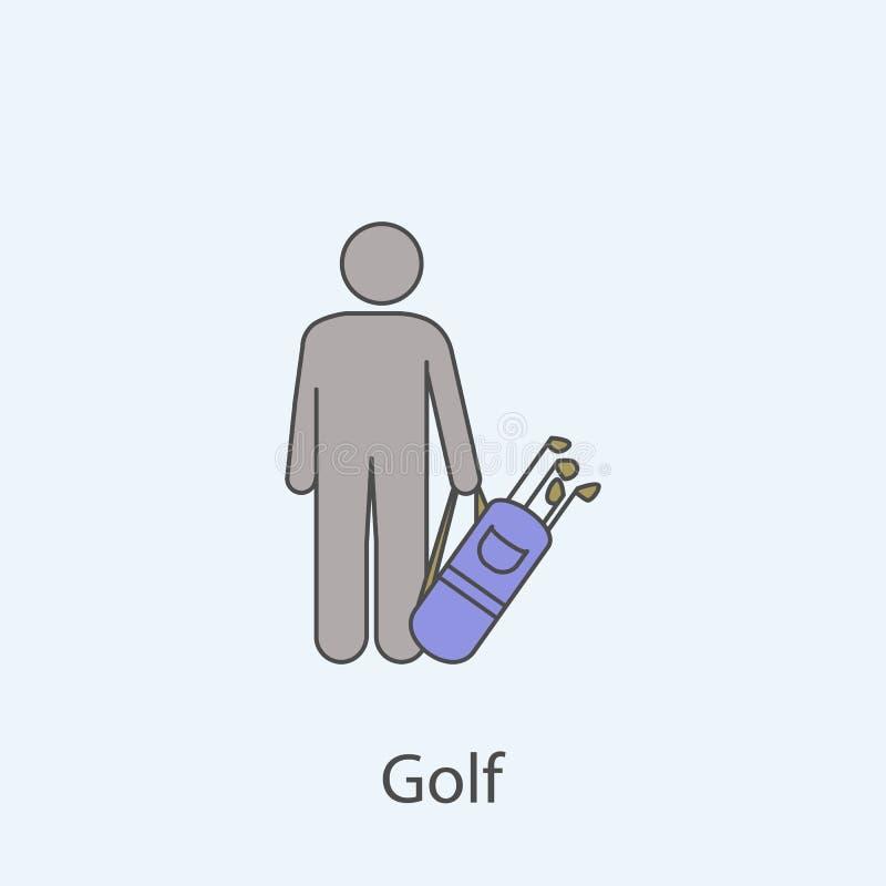Einfache Illustration des farbigen Elements  lizenzfreie abbildung