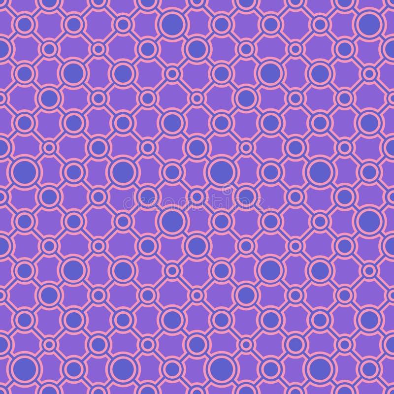 Einfache klassische geometrische Verzierung mit gem?tlichen Linien und Kreisen Nahtloses Muster des Vektors f?r Gewebe, Drucke, T vektor abbildung