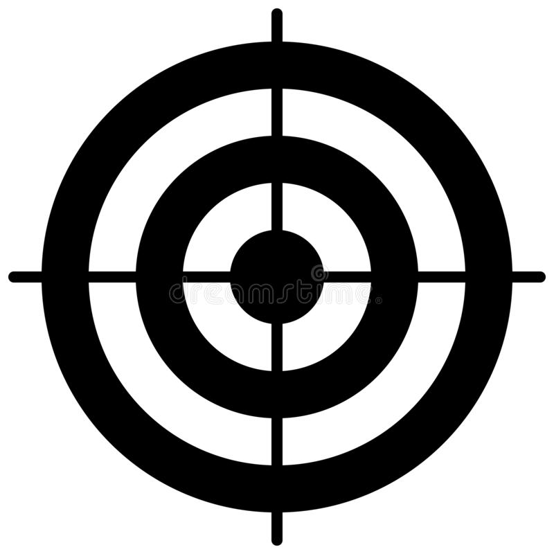 Einfache Kreiszielschablone Bullaugensymbol vektor abbildung