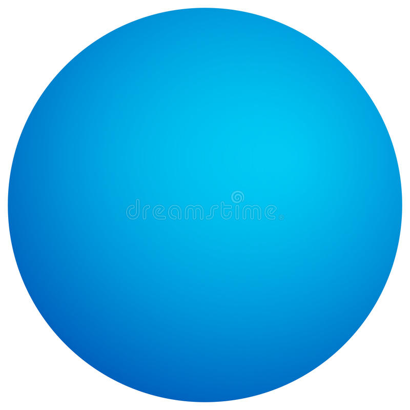 Einfache Kugel mit schattiertem Effekt Bunter, heller Kreis mit vivi lizenzfreie abbildung