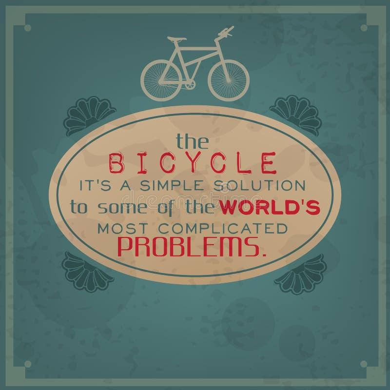 Einfache Lösung zu den Problemen der Welt stock abbildung