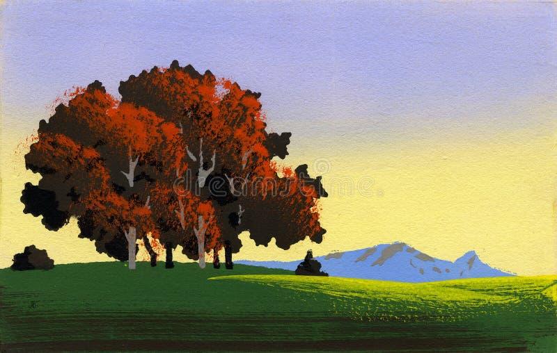 Einfache Landschaft 1 stock abbildung