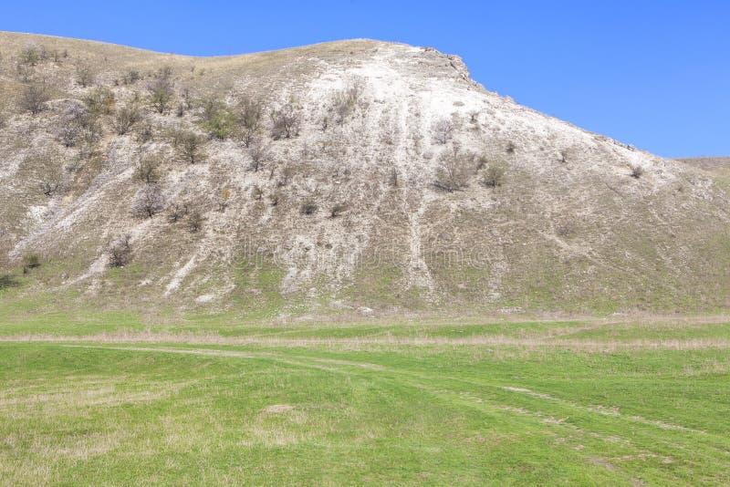 Einfache Landschaft mit Hügel stockbild