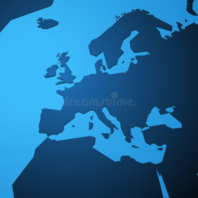 Einfache leere Karte von Europa lizenzfreie abbildung