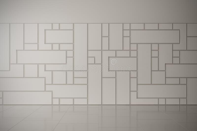 Einfache leere Rahmendekoration der Wandkunstgalerie lizenzfreie abbildung