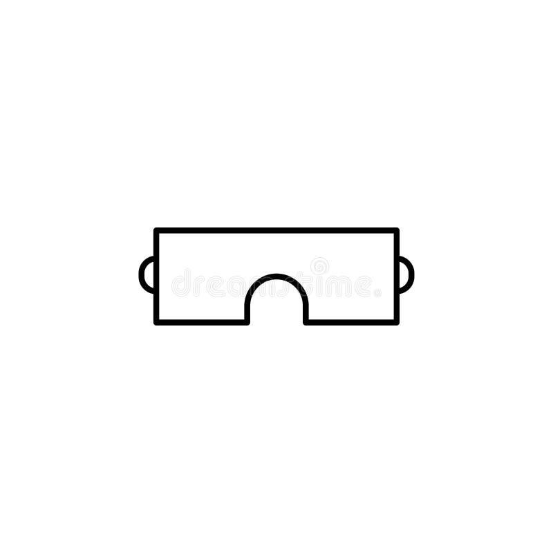 Einfache lineare Ikone der Sicherheitsgläser stock abbildung