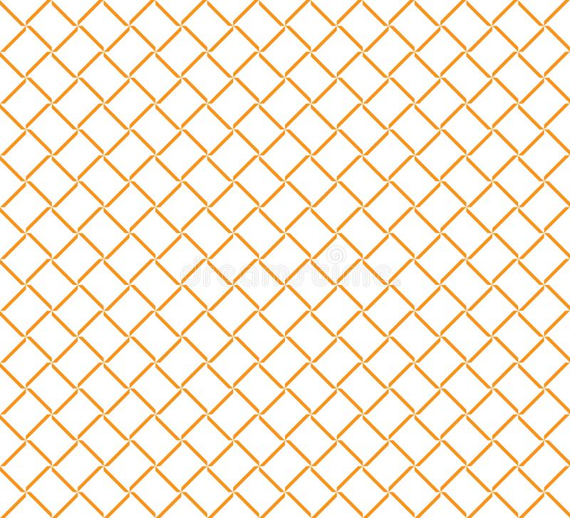 Einfache Linie Würfel-Quadrat-Zaun Grid Pattern Background stock abbildung