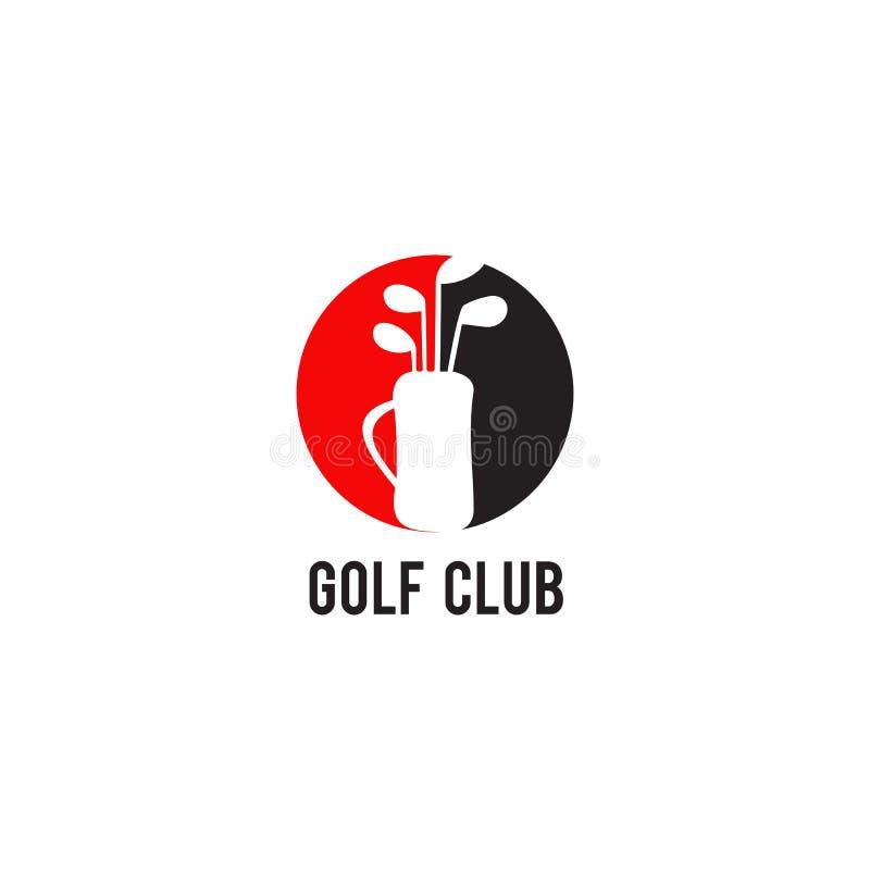 Einfache moderne Golflogoentwurfsinspirations-Vektorschablone stock abbildung