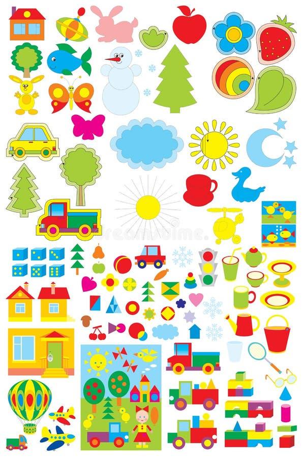 Einfache Nachrichten für Kindergarten stock abbildung
