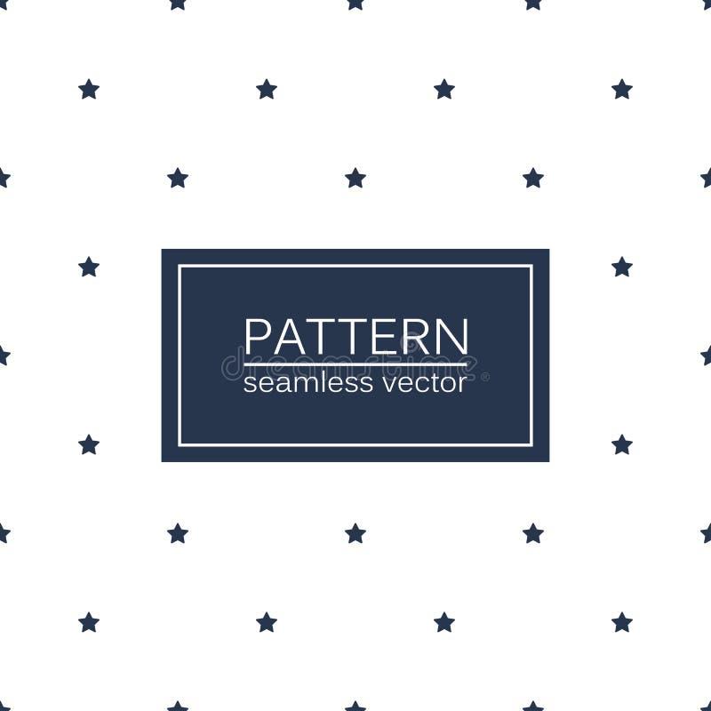 Einfache nahtlose Muster mit blauen Sternen lizenzfreie abbildung