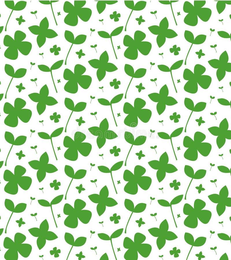 Einfache nette Musterillustration des frischen grünen Grases, Blatt, Minimalismus Kann f?r Postkarten, Flieger und Plakate verwen stock abbildung