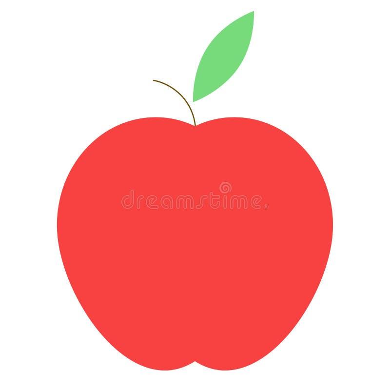 Einfache rote Apfelvektorikone lizenzfreie abbildung