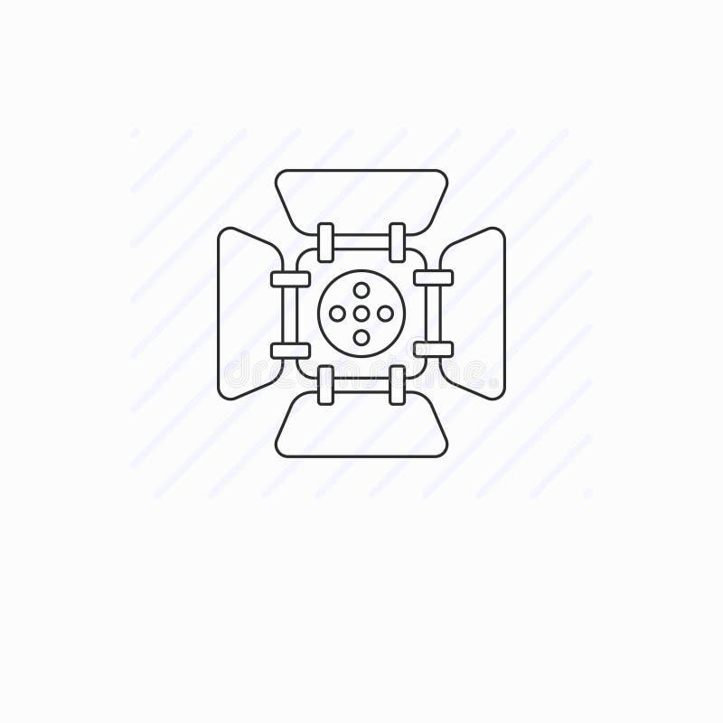 Einfache Scheinwerferlinie Ikone stock abbildung