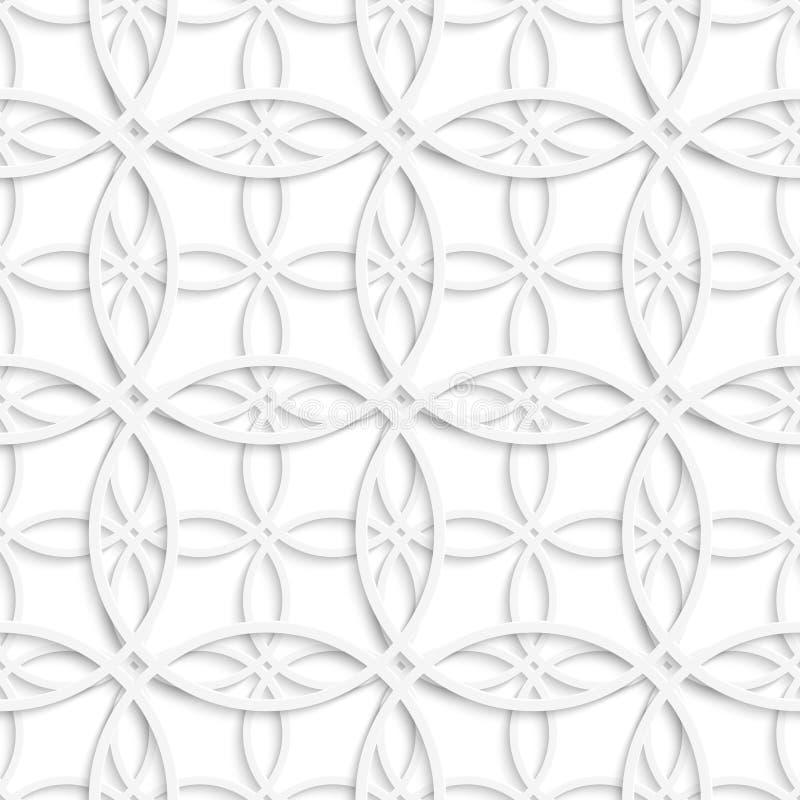 Einfache schneidene überlagerte Kreise nahtlos stock abbildung
