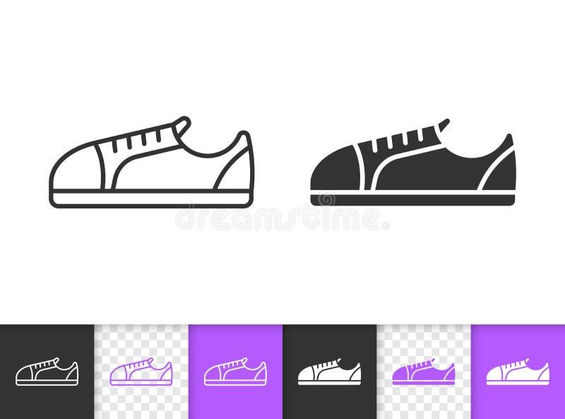 Einfache schwarze Linie Vektorikone der Frauen-Schuhe vektor abbildung