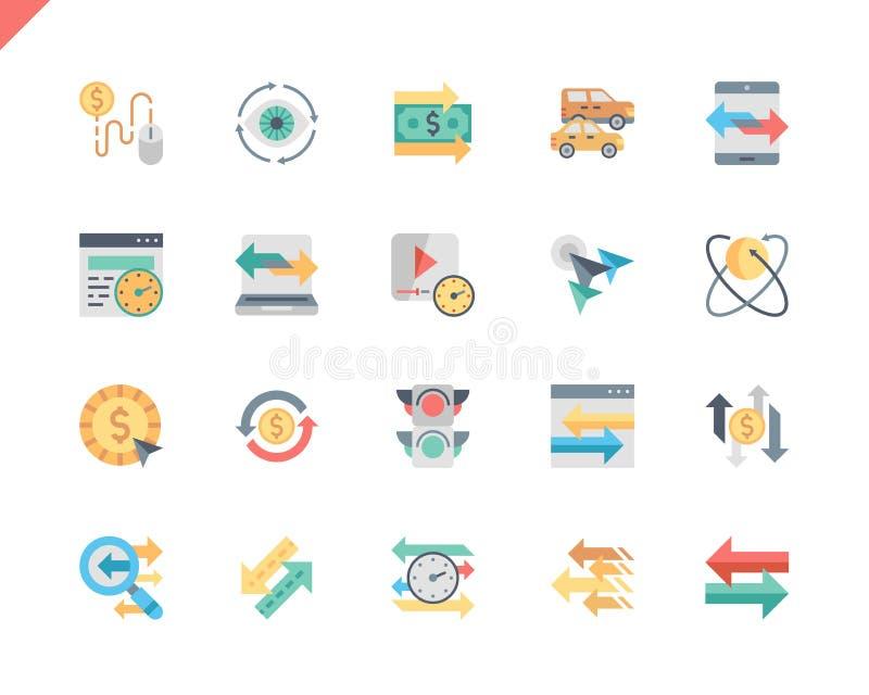 Einfache Set Traffic Flat Icons für Website stock abbildung