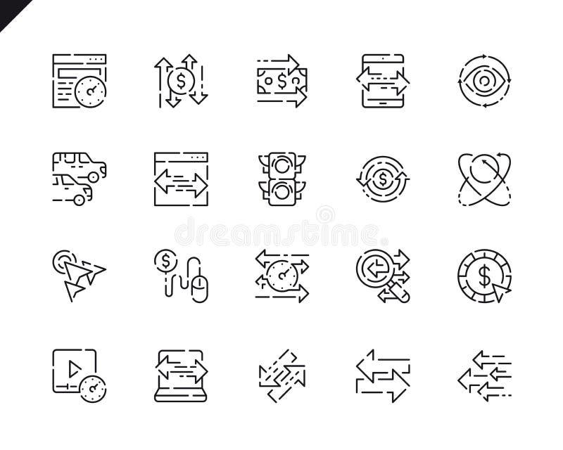 Einfache Set Traffic Line Icons für Website stock abbildung