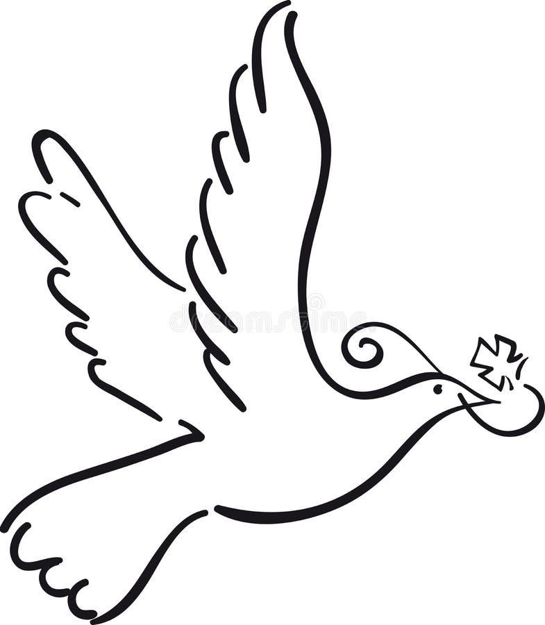 Einfache Taube vektor abbildung