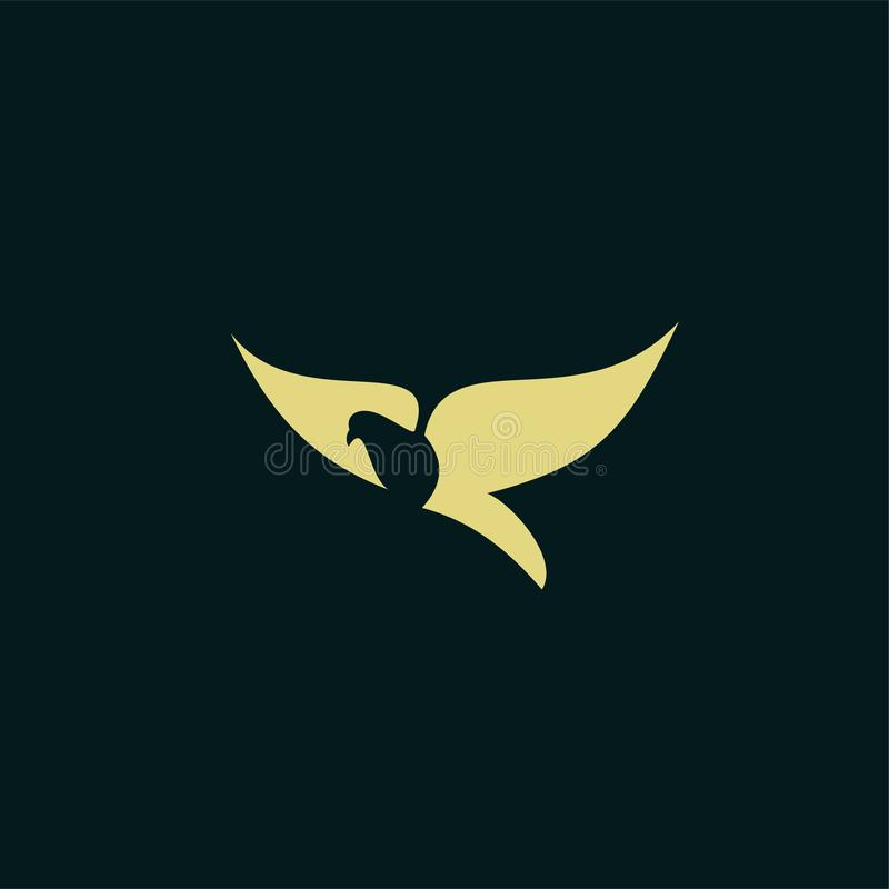 Einfache Taubenlogoschwarz-Entwurfslinie Satzschattenbild-Logoikone entwirft Vektor für Logoikonenstempel vektor abbildung