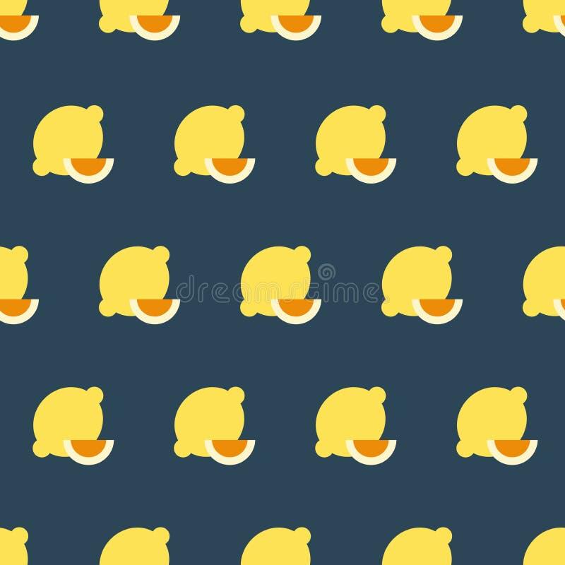 Einfache Vektorillustration mit F?higkeit zu ?ndern Vektormuster mit Zitronen lizenzfreie abbildung