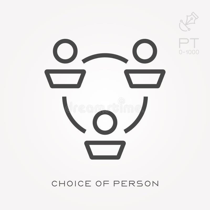 Einfache Vektorillustration mit F?higkeit zu ?ndern Wahl der Person stock abbildung