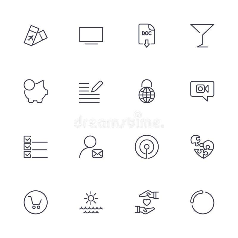 Einfache verschiedene Ikonen eingestellt F?r Netz und Mobile zu verwenden Universalikonen, UI-Satz von grundlegendem stock abbildung